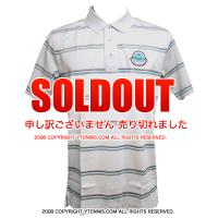 セール品 Wimbledon(ウィンブルドン) オフィシャル商品 ストライプポロシャツ グレー 全英オープンテニス