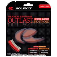 【在庫処分特価】ソリンコ(SOLINCO) アウトラスト+プロスタックド(Outlast + Pro Stacked) レッド/ホワイト 1.20mm/1.25mm-1.30 ハイブリッドストリングス テニス ガット パッケージ品