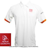 ジョコビッチファウンデーション限定 ユニクロ(UNIQLO) 2015全仏オープン着用モデル ポロシャツ ホワイト