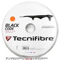 【旧パッケージ アウトレット】テクニファイバー(Tecnifiber) ブラックコード ファイア(Black Code Fire) 1.28mm/1.24mm 200mロール ポリエステルストリングス