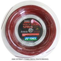 ヨネックス(YONEX) ポリツアースピンG(Poly Tour Spin G) 1.25mm 200mロール ポリエステルストリングス ダークレッド
