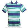 Wimbledon(ウィンブルドン) オフィシャル商品 ストライプポロシャツ パイルデザイン パープル/グリーン/ホワイト 全英オープンテニス