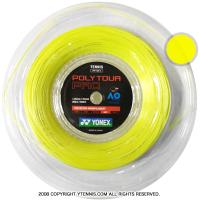 ヨネックス(YONEX) ポリツアープロ(Poly Tour Pro) 1.30mm/1.25mm 200mロール ポリエステルストリングス イエロー