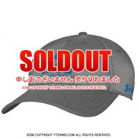 アンダーアーマー(UNDER ARMOUR)×IMG(ニック・ボロテリー テニスアカデミー) オフィシャルcoldblack ロゴ入りキャップ グレー/ブルー