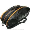 海外限定品 ウイルソン(Wilson) ツアー エクスクルーシブ テニスバッグ 15本用 ラケットバッグ ブラック/オレンジ