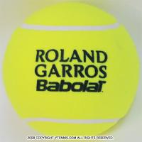バボラ(BabolaT)×フレンチオープン ローランギャロス 5インチ ミニジャンボテニスボール イエロー 全仏オープンテニス 国内未発売
