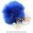 スポーツシリーズ:バレエ・バレリーナ ボンボンキーホルダー ブルーの画像1