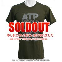 ATPワールドツアー メンズ ディストレストTシャツ カーキ 国内未発売