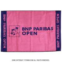 BNP パリバオープン オフィシャルプレイヤーズタオル ピンク/パープル 国内未発売