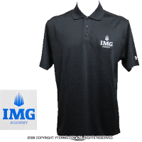 IMGアカデミー(ニック・ボロテリー テニスアカデミー)アンダーアーマー メンズ ポロシャツ ブラック