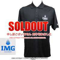 セール品 IMGアカデミー(ニック・ボロテリー テニスアカデミー)アンダーアーマー メンズ ポロシャツ ブラック