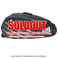 アディダス(adidas) バリケード4ツアー(Brricade) 国内未発売 テニスバッグ6本用 ブラック/ダークシルバー ラケットバッグ