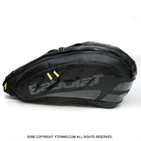 セール品 バボラ(BabolaT) チームエクスクルーシブ テニスバッグ 6本用 TEAM EXCLUSIVE ブラック バックパック機能あり 国内未発売 ラケットバッグ