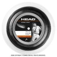 ヘッド(HEAD) ソニックプロ(SONIC PRO) 1.30mm/1.25mm 200mロール ポリエステルストリングス ブラック