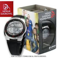 NDFノバクジョコビッチファウンデーション LORUS 腕時計 ジョコビッチモデル ブラック