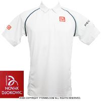 ジョコビッチファウンデーション限定 ユニクロ(UNIQLO) 2015ウィンブルドン着用モデル ポロシャツ ホワイト