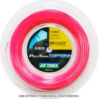 ヨネックス(YONEX) ポリツアースピン(Poly Tour Spin) 1.25mm 200mロール ポリエステルストリングス ピンク