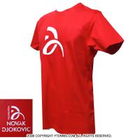 ノバクジョコビッチファウンデーション(NDF) ONE Tシャツ レッド