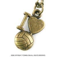 スポーツシリーズ:Iloveバレーボール ネックレス カラー:ブロンズ