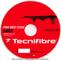 テクニファイバー(Tecnifiber) プロレッドコード ワックス (Pro Red Code WAX) 1.30mm/1.25mm/1.20mm 200mロール レッド
