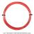 【12mカット品】ポリファイバー(Polyfibre) エボリューション リベッド(Evolution RIBBED) 1.25mm ポリエステルストリングス レッド テニス ガット ノンパッケージの画像