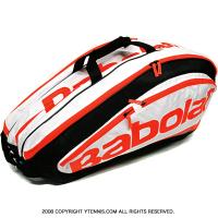セール品 バボラ(BabolaT) チームエクスクルーシブ テニスバッグ 12本用 TEAM EXCLUSIVE ホワイトフルオ バックパック機能あり 国内未発売 ラケットバッグ