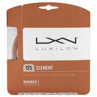 ルキシロン(LUXILON) エレメント(ELEMENT) 1.25mm ポリエステルストリングス ブロンズ テニス ガット パッケージ品