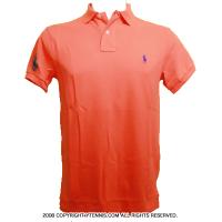 Wimbledon(ウィンブルドン) オフィシャル商品 ポロ・ラルフローレン ポロシャツ オレンジ 全英オープンテニス Bright Papaya