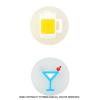 ウイルソン(Wilson) Emoti-fun ビール/マティーニ ばら売り 1個 振動止め ダンプナー