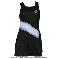 セルジオ・タッキーニ(Sergio Tacchini) Grid-coast dress テニスドレス 国内未発売モデルブラック