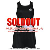 セール品 セルジオ・タッキーニ(Sergio Tacchini) Grid-coast dress テニスドレス 国内未発売モデルブラック