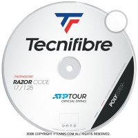 【新カラー】テクニファイバー(Tecnifiber) レーザーコード(Razor Code) ホワイト 1.30mm/1.25mm/1.20mm 200mロール ポリエステルストリングス
