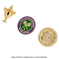 Wimbledon(ウィンブルドン) 全英オープンテニス オフィシャル記念グッズ 限定販 ピンバッジセット