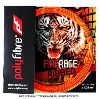 【12mカット品】ポリファイバー(Polyfibre) ファイアレイジ リベッド(FIRE RAGE RIBBED) 1.25mm ポリエステルストリングス テニス ガット ノンパッケージ