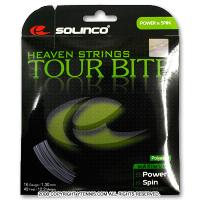 【在庫処分特価】ソリンコ(SOLINCO) ツアーバイト(Tour Bite) 1.15mm/1.30mm ポリエステルストリングス グレー テニス ガット パッケージ品