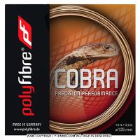【在庫処分特価】ポリファイバー(Polyfibre) コブラ(COBRA) フレッシュ 1.20mm/1.25mm ポリエステルストリングス テニス ガット パッケージ品