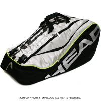 セール品 ヘッド(Head) ツアー モンスターコンビ 海外限定モデル 12本用 ブラック/シルバー テニスバッグ ラケットバッグ