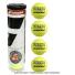 バボラ(BabolaT) フレンチオープンテニス ローランギャロス公式試合球 グランドスラム テニスボール 1本4球入 全仏オープン オールコートの画像1
