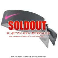 ナイキ(Nike)ドライフィット ヘッドタイ ラファエル・ナダル BNPパリバ・オープンシグネチャーモデル グレー/レーザーフューシャ