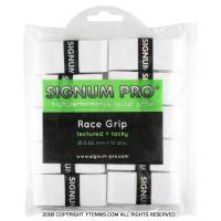シグナムプロ(SIGNUM PRO) レースグリップ(RACE GRIP) ホワイト 10パック 0.60mm オーバーグリップテープ