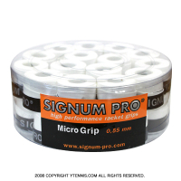 【新品アウトレット】シグナムプロ(SIGNUM PRO) マイクログリップ 0.55mm ホワイト オーバーグリップテープ 30パック