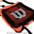 ウイルソン(Wilson) テニスボール 収納バッグ 150球収納可能 オレンジの画像4