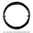【12mカット品】ポリファイバー(Polyfibre) ブラックヴェノムラフ(Black Venom Rough) 1.25mm/1.30mm ポリエステルストリングス ブラック テニス ガット ノンパッケージの画像1