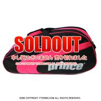 プリンス(Prince) クラブバッグ ブラック/ピンク 6本程度用 テニスバッグ ラケットバッグ 国内未発売