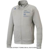 セール品 デサント (DESCENTE) ライトスムースドライスウェットジャケット DAT-2751 グレー×ネイビー