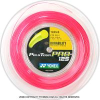 ヨネックス(YONEX) ポリツアープロ(Poly Tour Pro) 1.25mm 200mロール ポリエステルストリングス ピンク