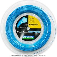ヨネックス(YONEX) ポリツアースピン(Poly Tour Spin) 1.25mm/1.20mm 200mロール ポリエステルストリングス ブルー