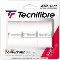 【新パッケージ】テクニファイバー(Tecnifibre) コンタクトプロ オーバーグリップテープ 3本パック ホワイト