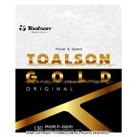 【12mカット品】トアルソン(TOALSON) ゴールド 130 オリジナル (GOLD 130 ORIGINAL) 1.30mm ナイロンストリングス イエロー テニス ガット ノンパッケージ