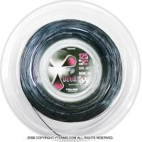 トアルソン(TOALSON) レンコンデビルスピン(Rencon Devil Spin) 1.30mm/1.25mm 200mロール ポリエステルストリングス ブラック